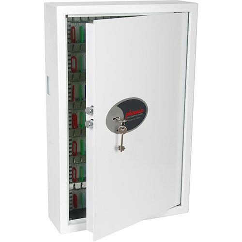 Phoenix Cygnus Key Deposit Safe KS0033K With 144 Key Hooks Key Lock &Deposit Slot White