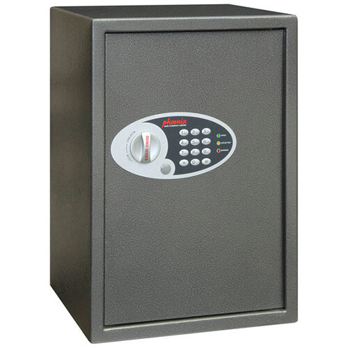 Phoenix Vela SS0804E Size 4 51L Home &Office Security Safe With Electronic Lock Metallic Graphite