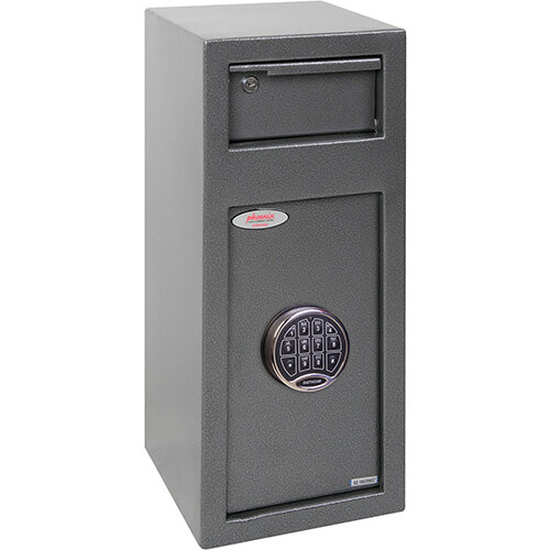 Phoenix Cashier Day Deposit SS0992ED 19L Security Safe With Electronic Lock Metallic Graphite
