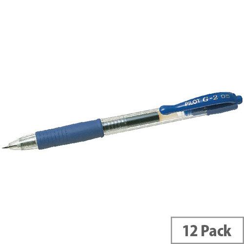 Pilot G205 Retractable Gel Rollerball Pen Blue Pack 12 040101203