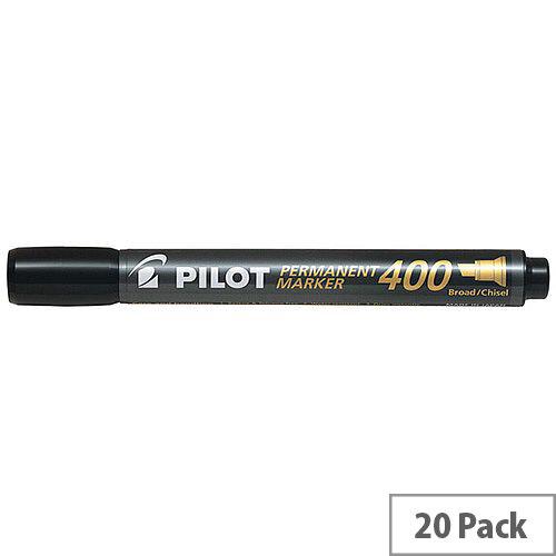 Pilot 400 Permanent Marker Chisel Tip Black Pack of 20 3131910504061
