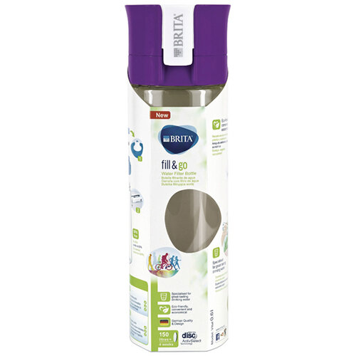 Brita 600ml Vital Water Bottle Purple BA0104