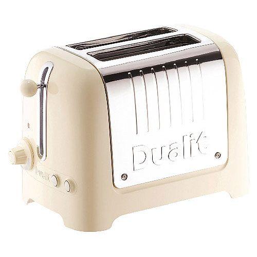 Dualit 2 Slice High Gloss Lite Toaster Cream DA2622