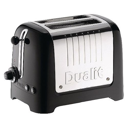 Dualit 2 Slice High Gloss Lite Toaster Black DA2625
