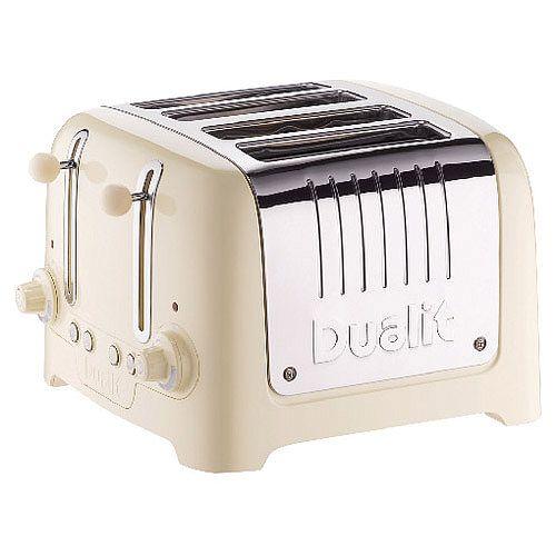 Dualit 4 Slice High Gloss Lite Toaster Cream DA6202
