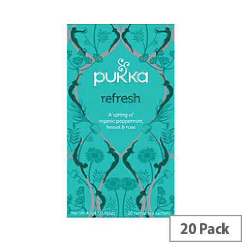 Pukka Refresh Organic Tea Bags Pack 20