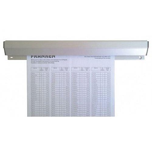Franken Aluminium Paper Holder Rail 50x4cm PKSA50