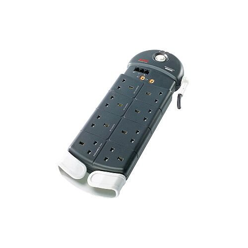 APC Schneider Electric SurgeArrest Surge Suppressor/Protector 8 x UK BS1363 Plug 2500 J PL8VT3-GB