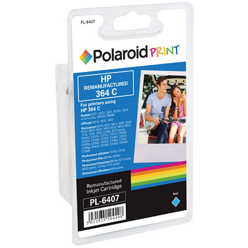 Polaroid HP 364 Remanufactured Inkjet Cartridge Cyan CB318EE-COMP PL