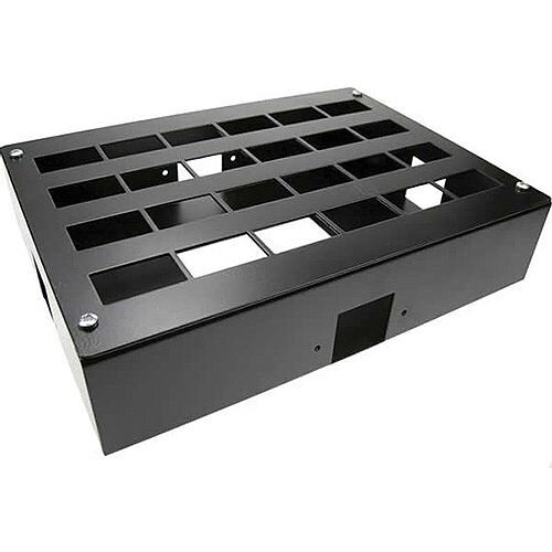 Cat 6 friendly 24 Way Cable Tidy POD Box Depth: 62mm Square Cable Entry: 32mm