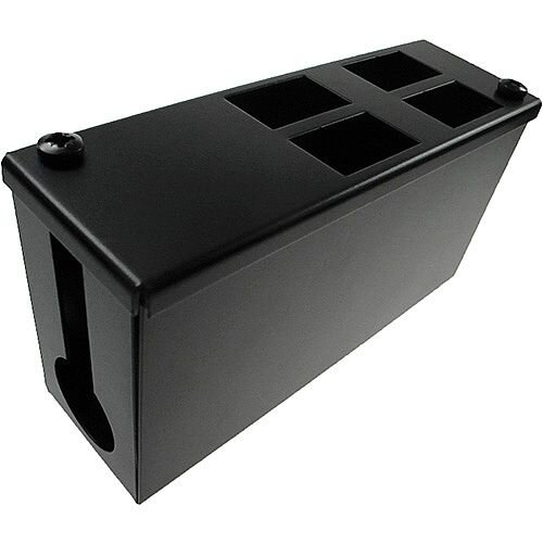 Cat 6a friendly 4 Way Cable Tidy POD Box Depth: 100mm Cable Entry: 32mm