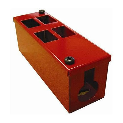 Cat 6 friendly 4 Way Red Cable Tidy POD Box Depth: 70mm Cable Entry: 32mm