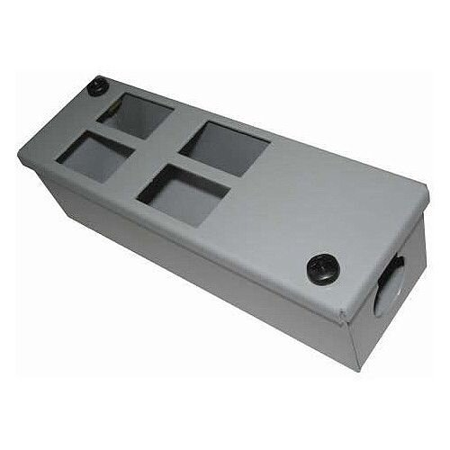 Cat 6 friendly 4 Way Grey Cable Tidy POD Box Depth: 55mm Cable Entry: 25mm