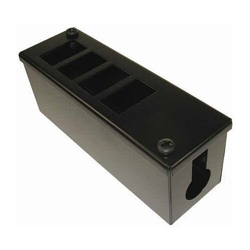 Cat 6a friendly 4 Way Cable Tidy POD Box Depth: 70mm Cable Entry: 25mm