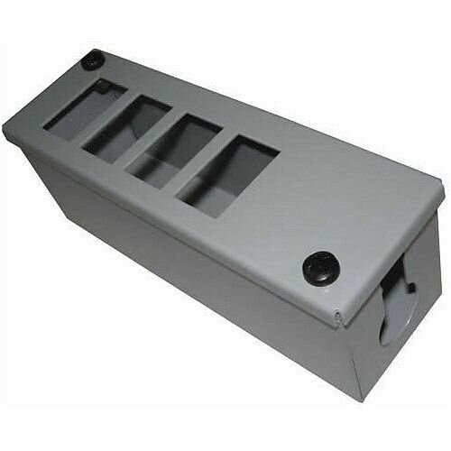 Cat 6 friendly 4 Way Grey Cable Tidy POD Box Depth: 70mm Cable Entry: 25mm