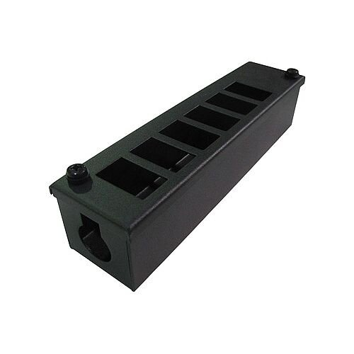 Cat 6 friendly 6 Way Cable Tidy POD Box Depth: 60mm Cable Entry: 25mm
