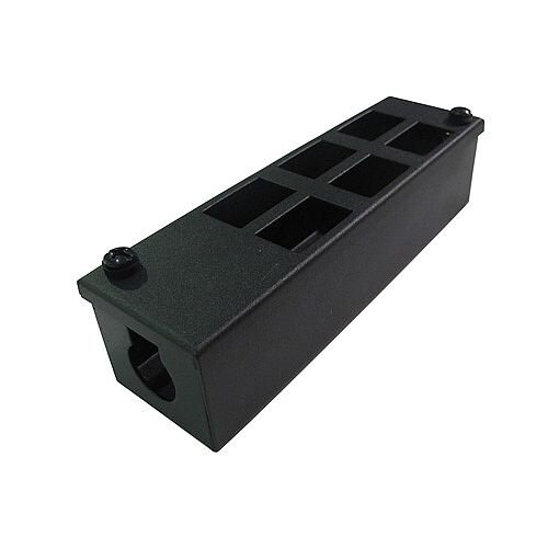 Cat 6 friendly 6 Way Cable Tidy POD Box Cable Entry: 25mm Depth: 60mm