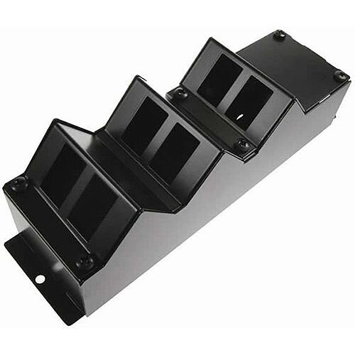 Cat 6a friendly 6 Way Angled Cat 6a Cable Tidy POD Box Depth: 100mm Cable Entry: 25mm