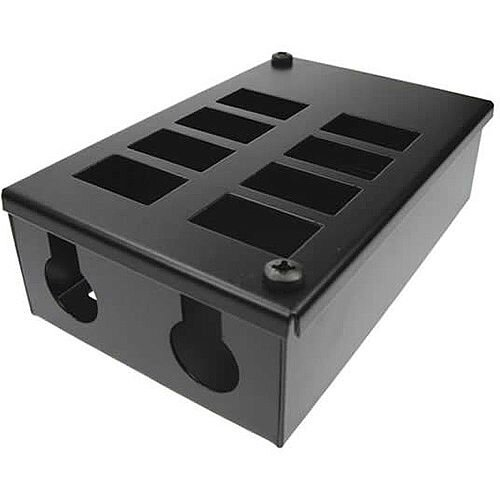 Cat 6 friendly 8 Way Cable Tidy POD Box Depth: 55mm Cable Entry: 25mm