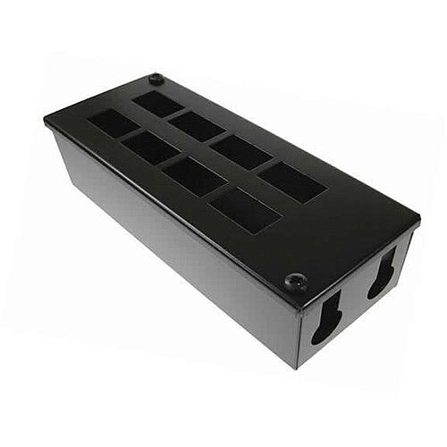 Cat 6a friendly 8 way Cable Tidy POD Box Depth: 70mm Cable Entry: 25mm
