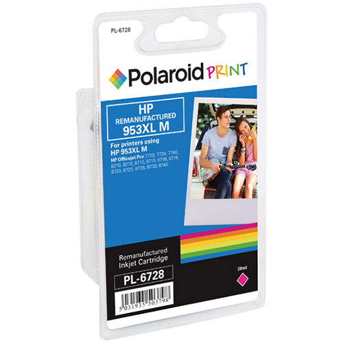Polaroid HP 953XL Remanufactured Inkjet Cartridge Magenta F6U17AE-COMP PL