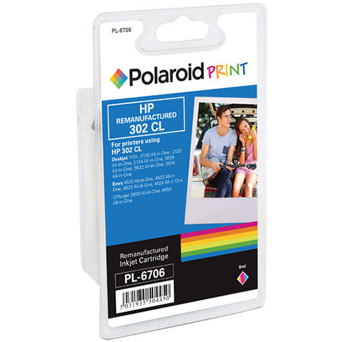 Polaroid HP 302XL Remanufactured Inkjet Cartridge Tricolour F6U67AE-COMP PL