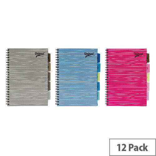 Pukka Unipad Project Book A4 200 Pages Pack of 12 6200-UNI
