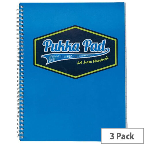 Pukka Pad Vision Wirebound Jotta Pad A4 Blue Pack of 3 8614-VIS
