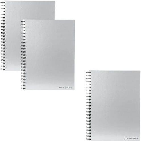 Pukka Pad Wirebound Casebook A5 90gsm Get 3 for the Price of 2 (Pack of 10 + 5) PP816966