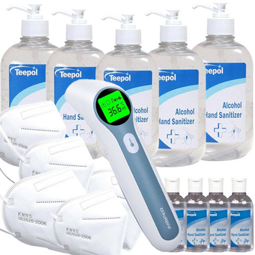 Workplace Covid Ready Pack Medium  - Thermometer, Mask, Sanitizer