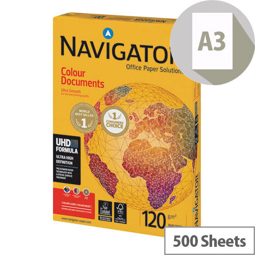 Navigator Colour Documents A3 Paper 120gsm Pack of 500 NAVA3120