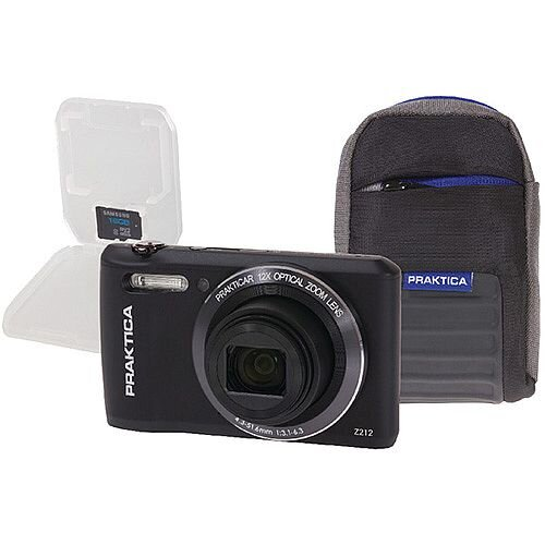 Praktica Luxmedia Z212 20mp Camera plus 16gb card and case