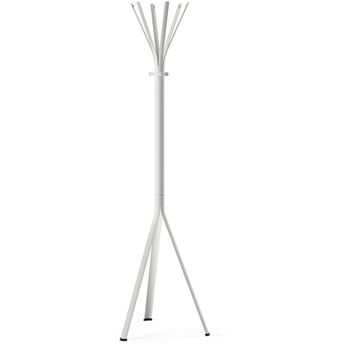 NINE White Coat Stand with Matching Hooks