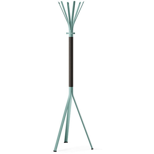 NINE Turquoise Coat Stand with Matching Hooks &Dark Brown H11 Wooden Column