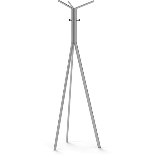 SEVEN Metallic Coat Stand with Black Hooks