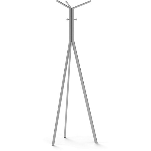 SEVEN Metallic Coat Stand with Metallic Silver Hooks