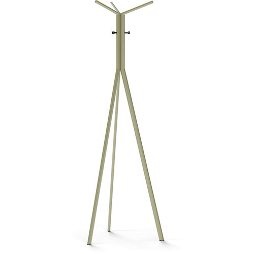 SEVEN Beige Green Coat Stand with Black Hooks
