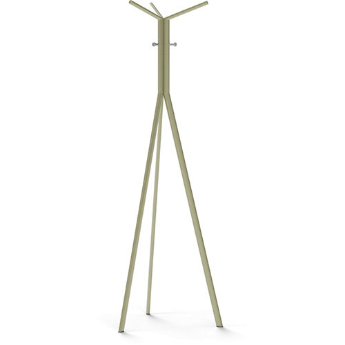 SEVEN Beige Green Coat Stand with Metallic Silver Hooks
