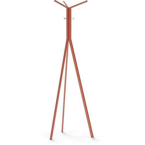 SEVEN Orange Coat Stand with Chrome Hooks