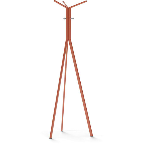SEVEN Orange Coat Stand with Metallic Silver Hooks