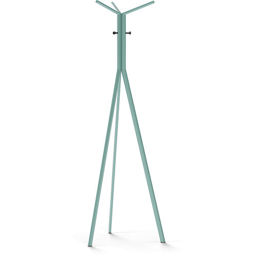 SEVEN Turquoise Coat Stand with Black Hooks