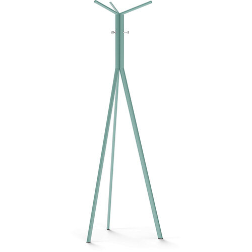 SEVEN Turquoise Coat Stand with Chrome Hooks