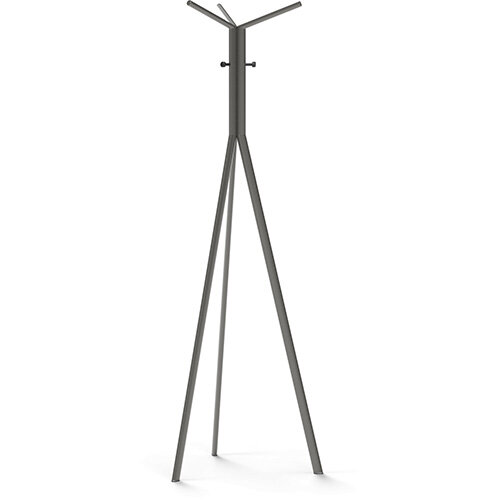 SEVEN Grey Coat Stand with Black Hooks
