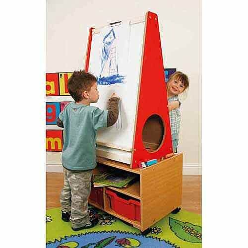 Mobile Literacy and Art Storage Easel