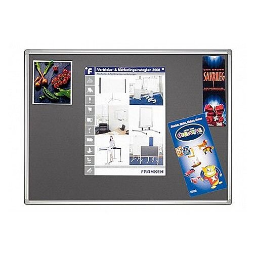 Double Sided Felt Notice Board 1800 x 1200mm Franken Pro Partition System Grey