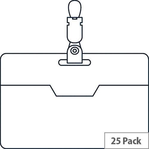 Security Name Badge 60x90mm Box 25