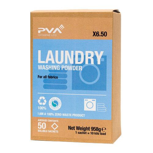 PVA Laundry Washing Powder Sachets Pack of 50 PVAA6-50