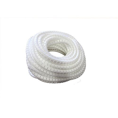 15mm White PolyWrap Protection Tubing for Cables 360 Degree Flexibility 50m