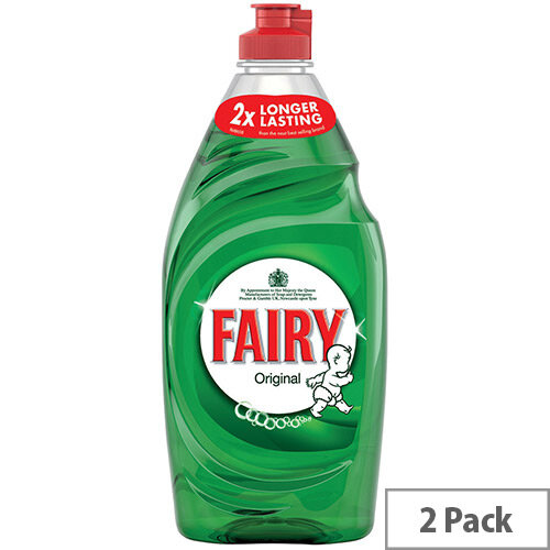 Fairy Original Washing Up Liquid 433ml Pack 2