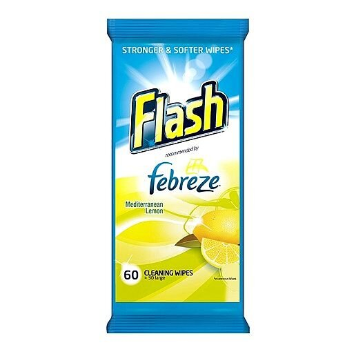Flash Strong Weave Lemon Cleaning Wet Wipes (60 Pack) 5413149937062